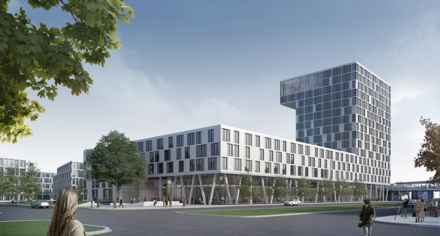 Visualisierung Campus-Hotel Adlershof, Berlin © GBP Architekten, Visualisierung: Archimation